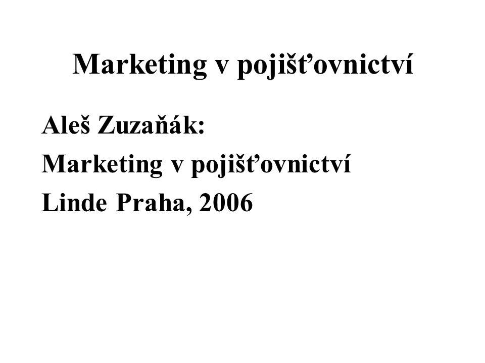 Marketing v pojišťovnictví Aleš Zuzaňák: Marketing v pojišťovnictví Linde Praha, 2006