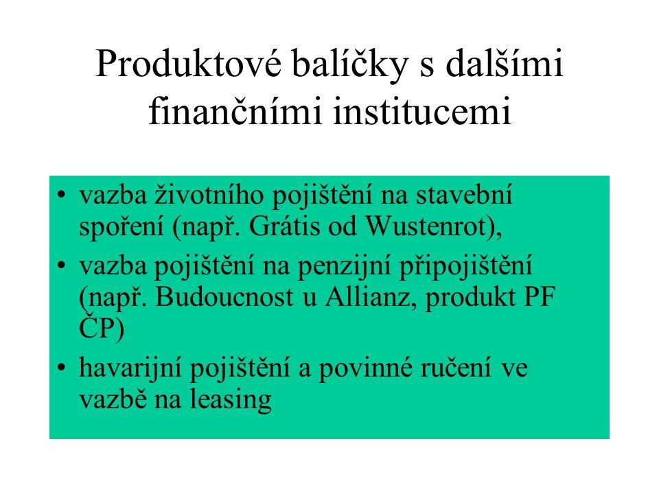 Produktové balíčky s dalšími finančními institucemi vazba životního pojištění na stavební spoření (např.