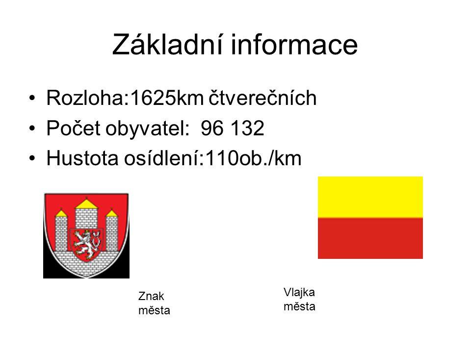 Základní informace Rozloha:1625km čtverečních Počet obyvatel: 96 132 Hustota osídlení:110ob./km Znak města Vlajka města