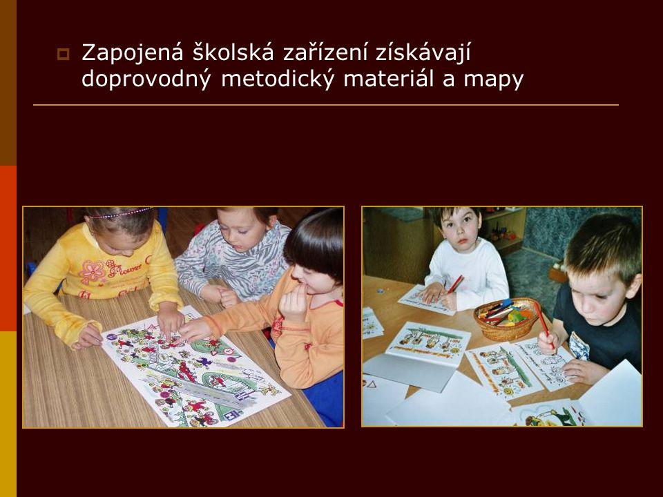  Zapojená školská zařízení získávají doprovodný metodický materiál a mapy