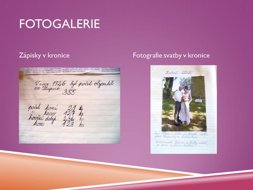 FOTOGALERIE Zápisky v kroniceFotografie svatby v kronice