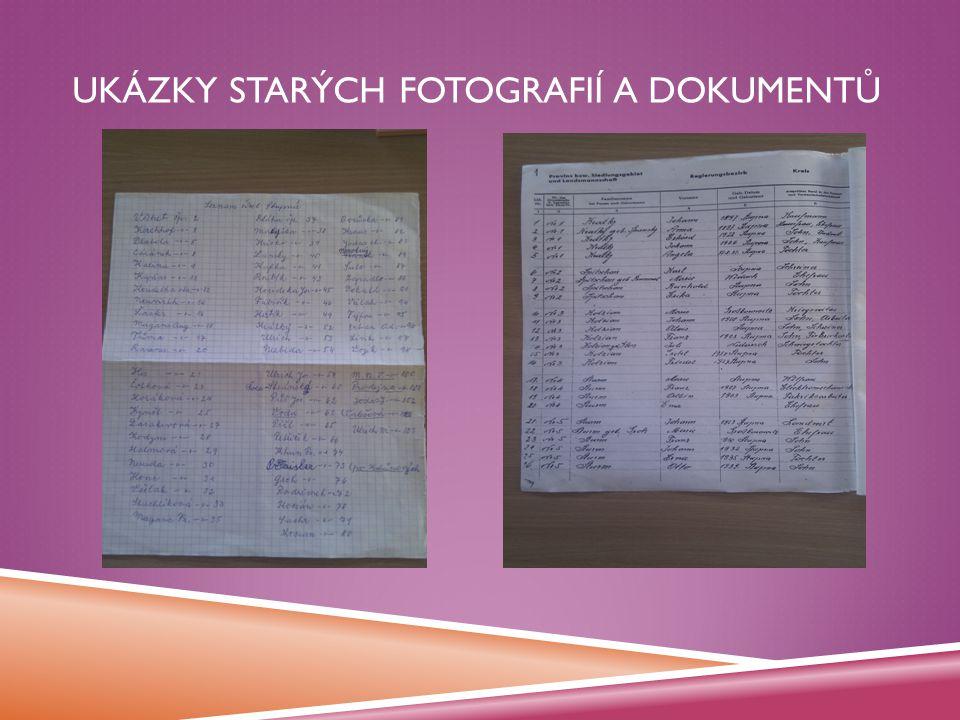 Desky s fotografiemi a dokumentyOblast bez Arcadien Parku