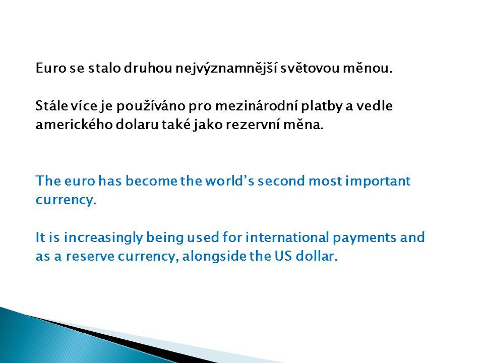 Euro se stalo druhou nejvýznamnější světovou měnou.