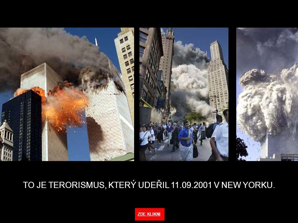 TO JE TERORISMUS, KTERÝ UDEŘIL 11.09.2001 V NEW YORKU. ZDE KLIKNI