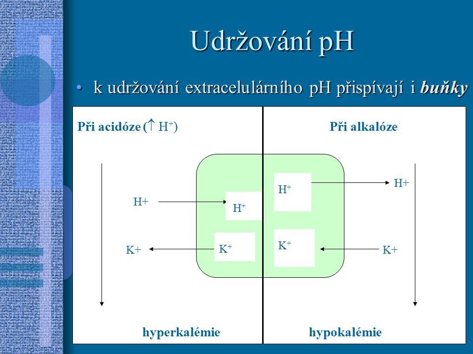 Udržování pH K udržování EC pH dále přispívají játra (ureageneza)játra (ureageneza) kostikosti