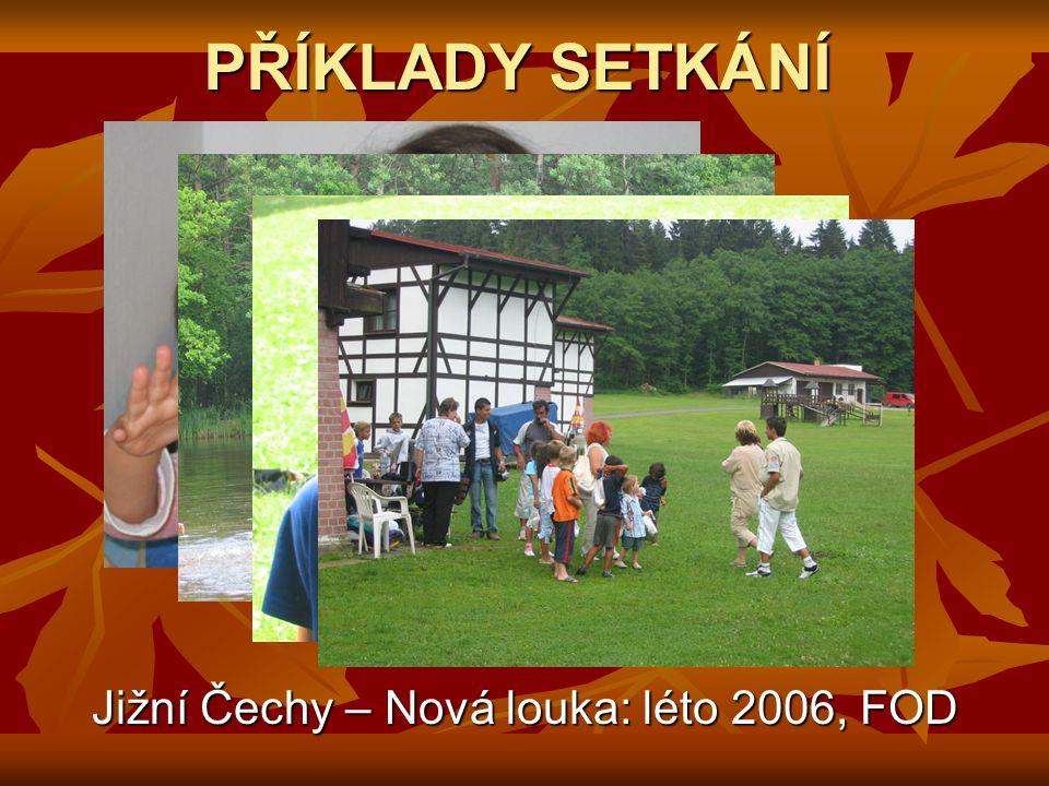 PŘÍKLADY SETKÁNÍ Jižní Čechy – Nová louka: léto 2006, FOD