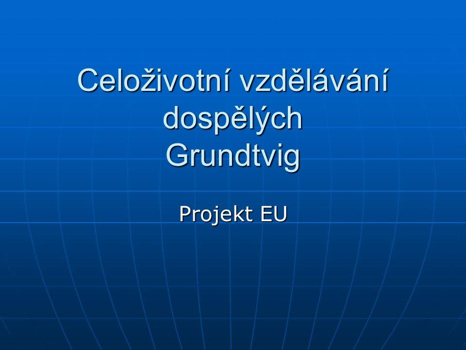 Celoživotní vzdělávání dospělých Grundtvig Projekt EU