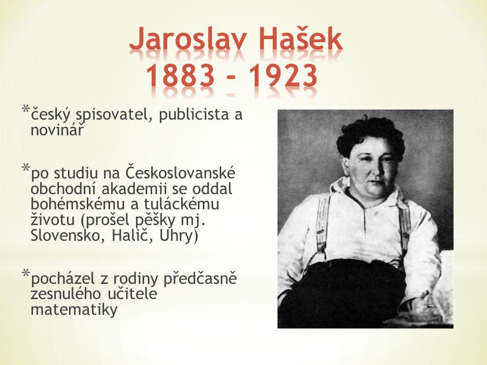 * český spisovatel, publicista a novinář * po studiu na Českoslovanské obchodní akademii se oddal bohémskému a tuláckému životu (prošel pěšky mj. Slov