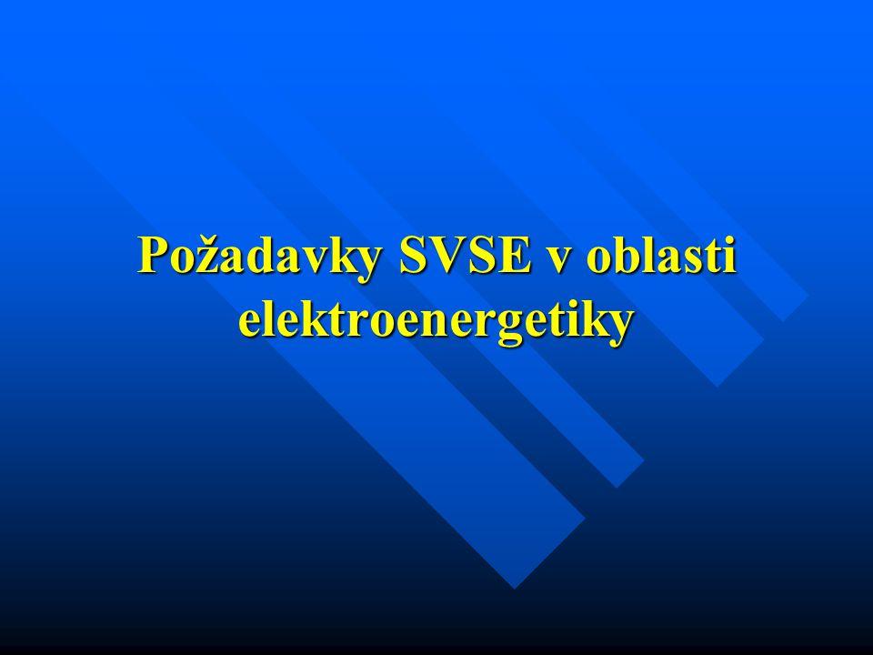 Požadavky SVSE v oblasti elektroenergetiky