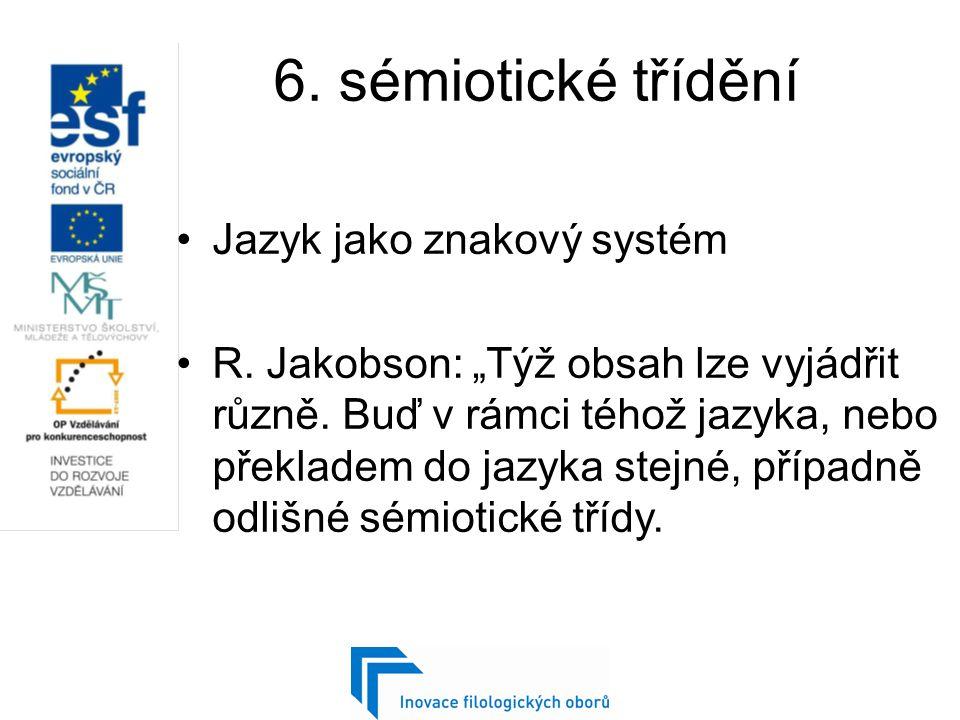 a.Vnitrojazykový překlad Nahrazení jedné syntaktické (lexikální) jednotky jinou.
