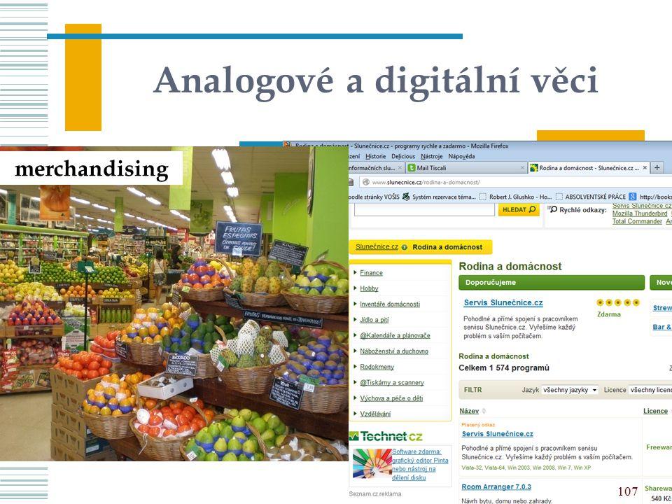 Analogové a digitální věci merchandising 107