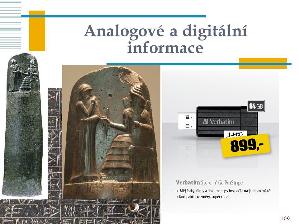 Analogové a digitální informace 109