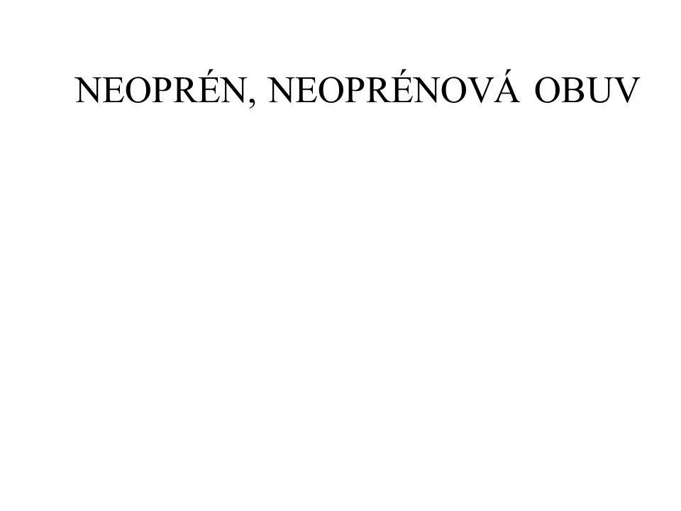 NEOPRÉN, NEOPRÉNOVÁ OBUV
