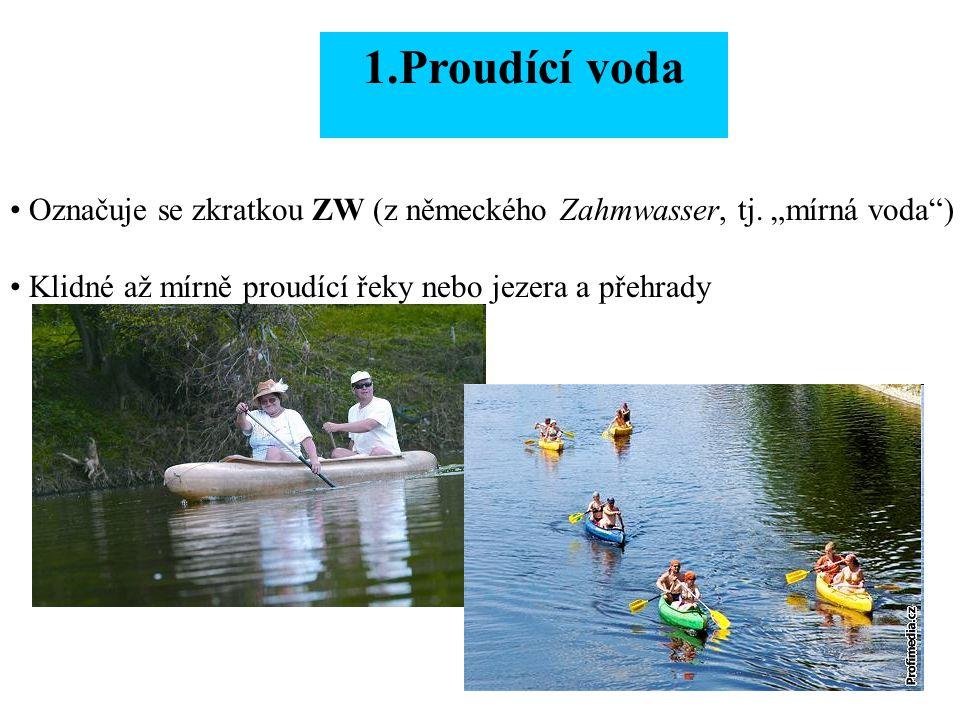 2.Divoká voda Označuje se zkratkou WW (z německého Wildwasser, tj.