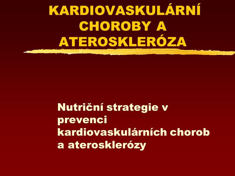 KARDIOVASKULÁRNÍ CHOROBY A ATEROSKLERÓZA Nutriční strategie v prevenci kardiovaskulárních chorob a aterosklerózy