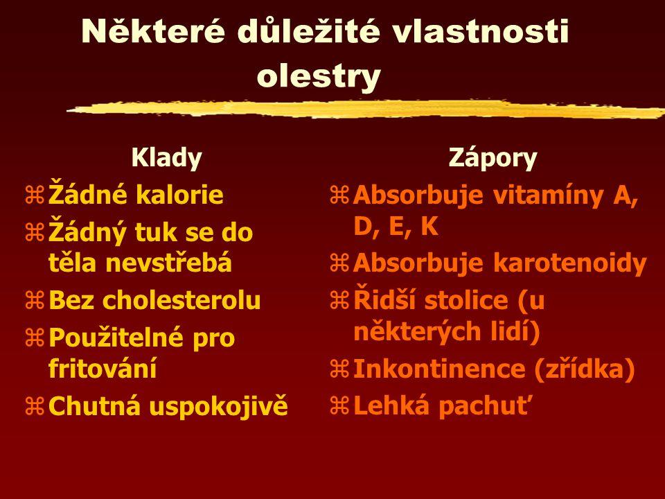 zJako každý tuk do sebe v potravě absorbuje v tucích rozpustné vitamíny (A, D, E, K), které se ve střevech mají vstřebávat stejnou cestou jako tuky, a