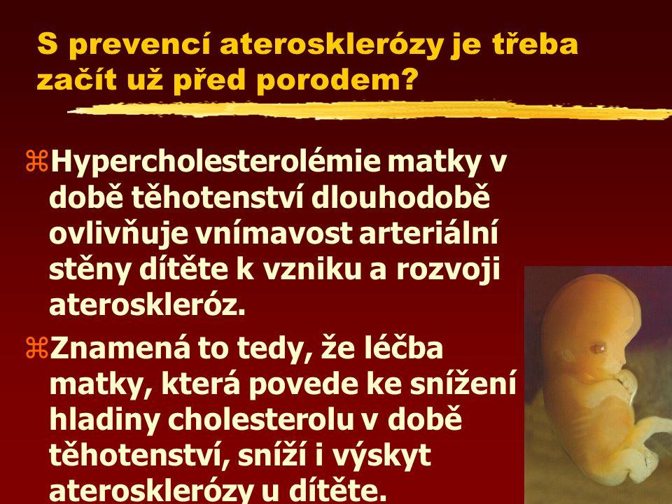 S prevencí aterosklerózy je třeba začít už před porodem.