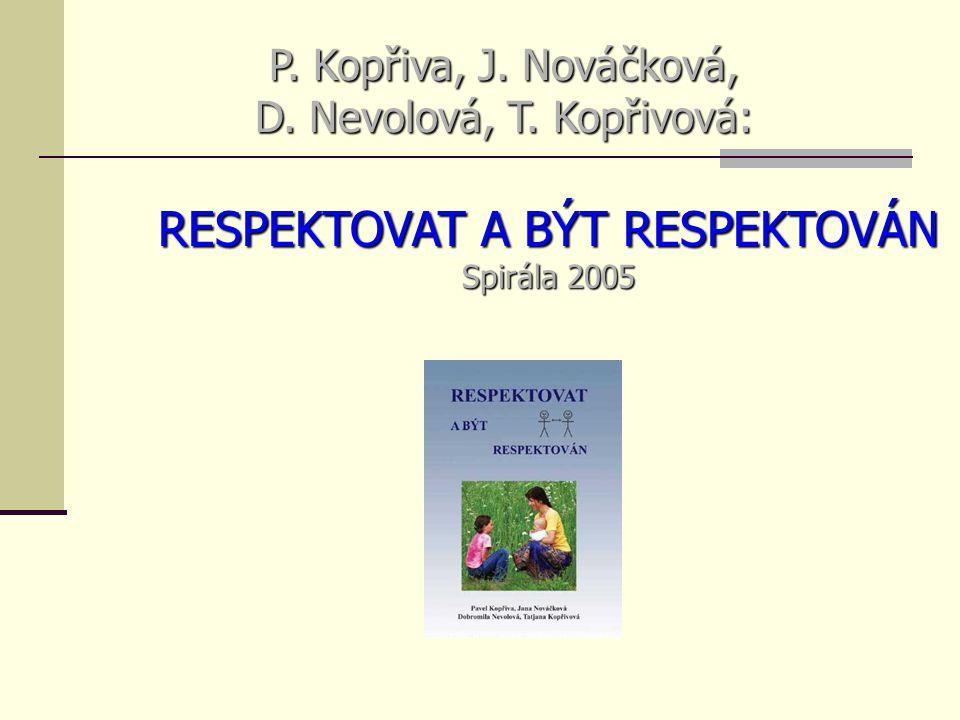 P. Kopřiva, J. Nováčková, D. Nevolová, T. Kopřivová: RESPEKTOVAT A BÝT RESPEKTOVÁN Spirála 2005
