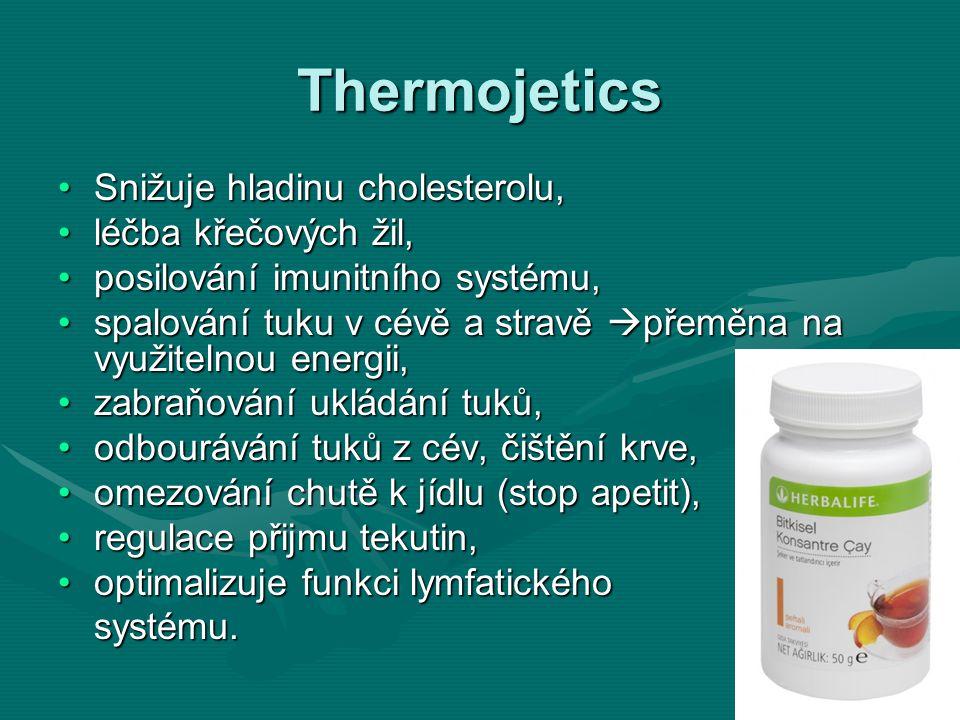 Thermojetics Snižuje hladinu cholesterolu,Snižuje hladinu cholesterolu, léčba křečových žil,léčba křečových žil, posilování imunitního systému,posilov