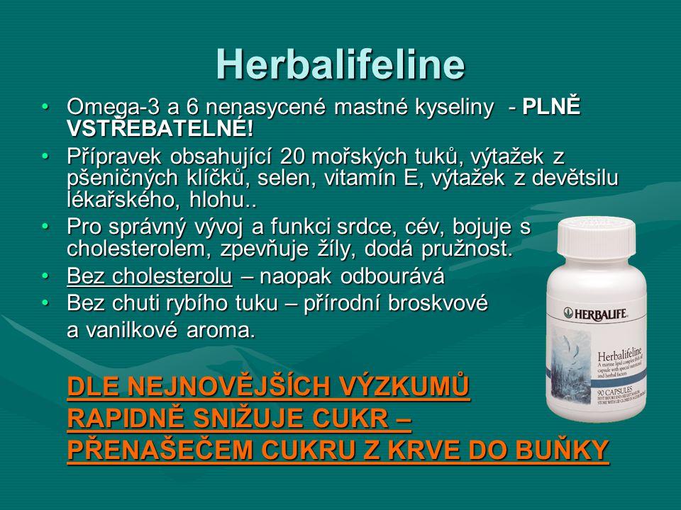 Herbalifeline Omega-3 a 6 nenasycené mastné kyseliny - PLNĚ VSTŘEBATELNÉ!Omega-3 a 6 nenasycené mastné kyseliny - PLNĚ VSTŘEBATELNÉ! Přípravek obsahuj