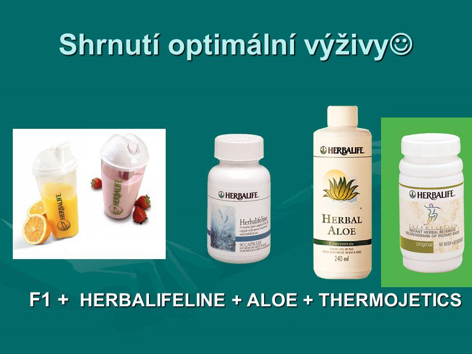 Shrnutí optimální výživy Shrnutí optimální výživy F1 + HERBALIFELINE + ALOE + THERMOJETICS