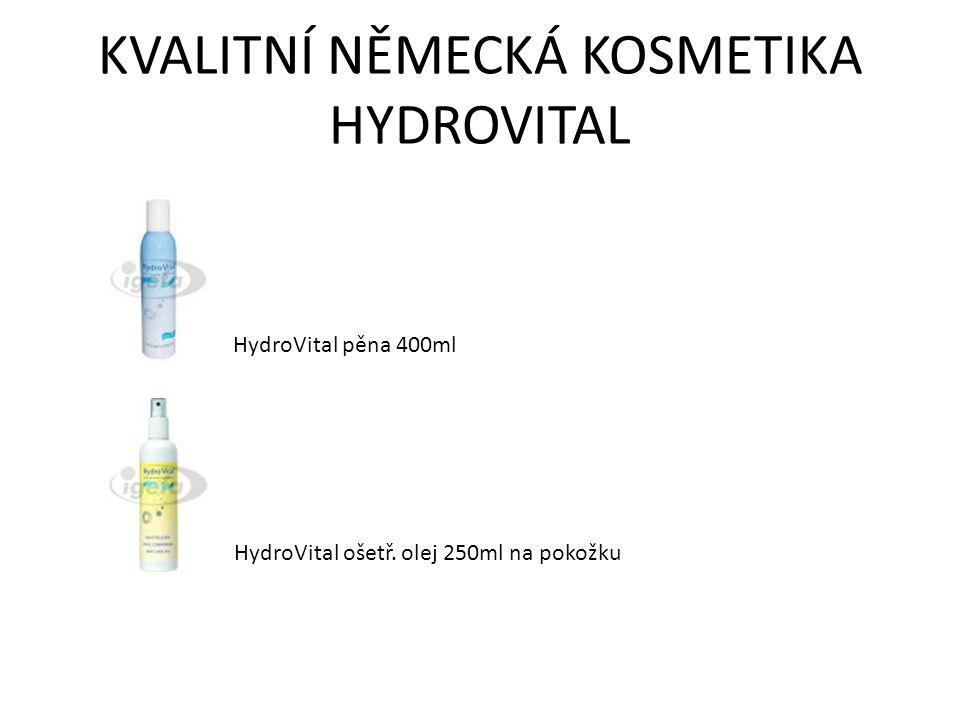 KVALITNÍ NĚMECKÁ KOSMETIKA HYDROVITAL HydroVital pěna 400ml HydroVital ošetř. olej 250ml na pokožku