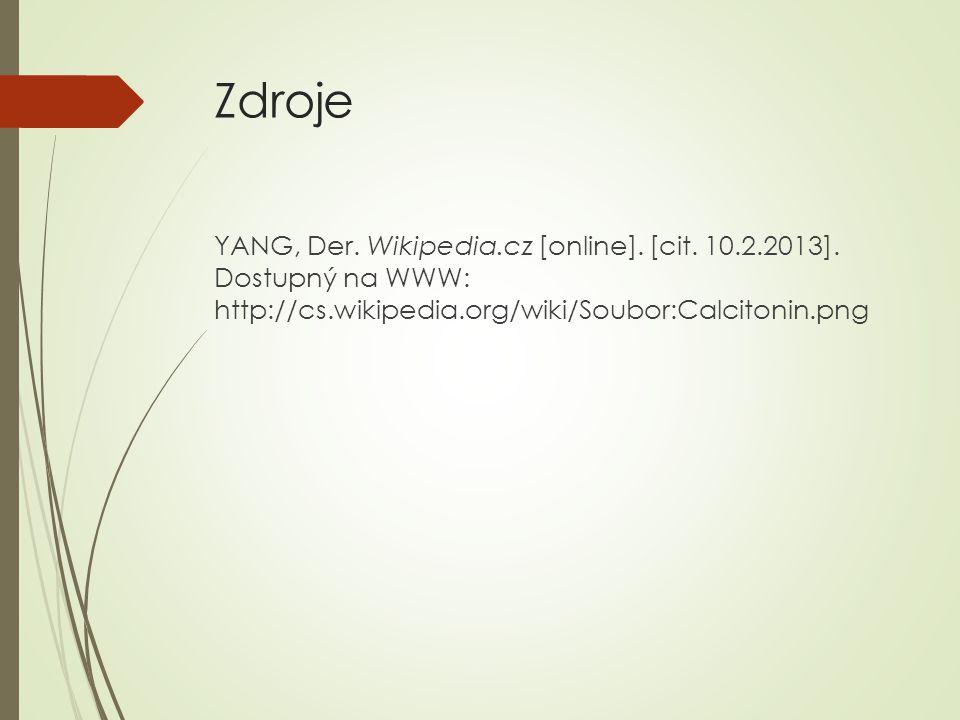 Zdroje YANG, Der.Wikipedia.cz [online]. [cit. 10.2.2013].