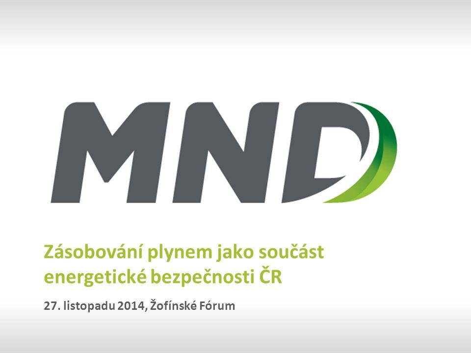 Zásobování plynem jako součást energetické bezpečnosti ČR 27. listopadu 2014, Žofínské Fórum