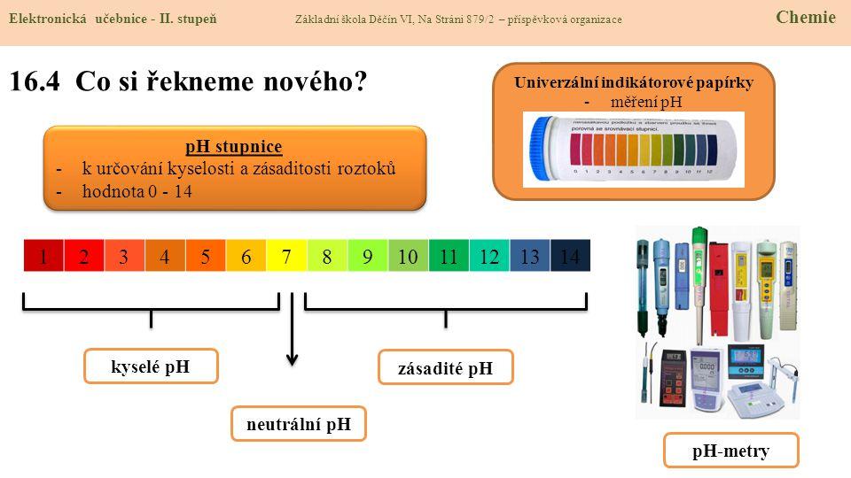 16.4 Co si řekneme nového.Elektronická učebnice - II.