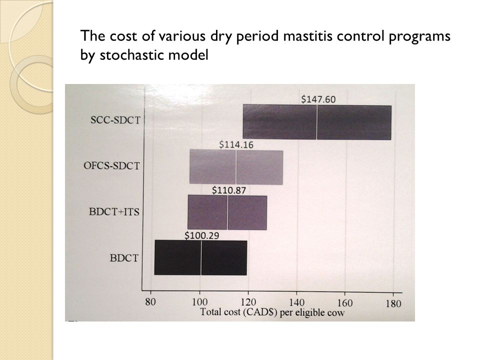 The cost of various dry period mastitis control programs by stochastic model