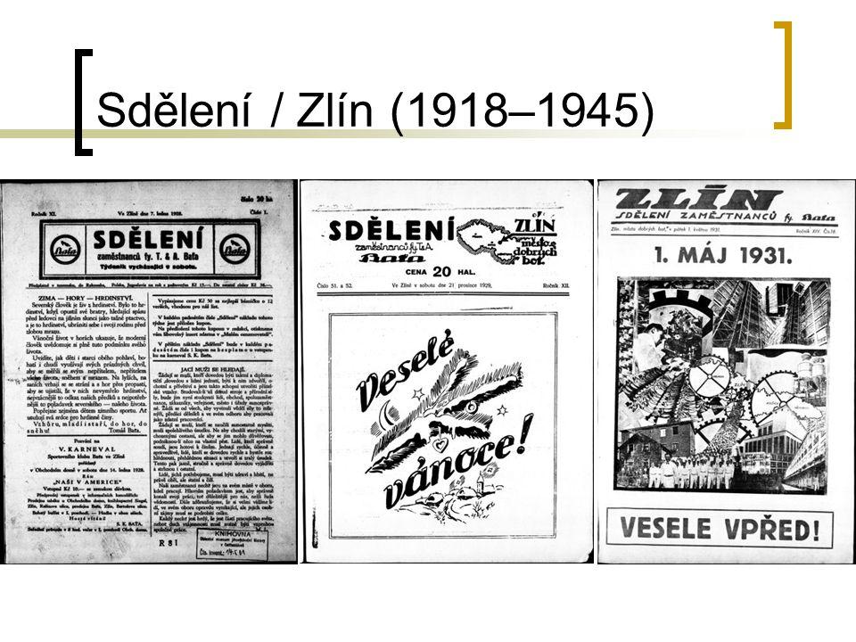 Sdělení / Zlín (1918–1945)