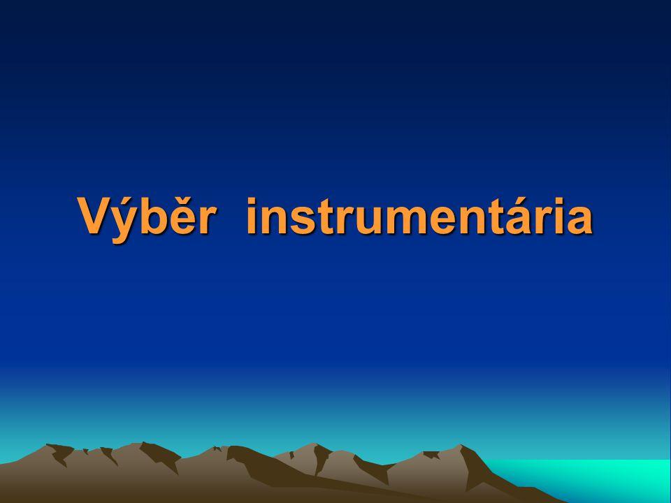 Výběr instrumentária