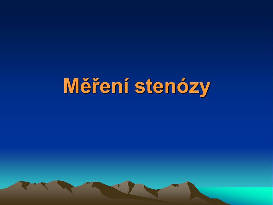 Měření stenózy