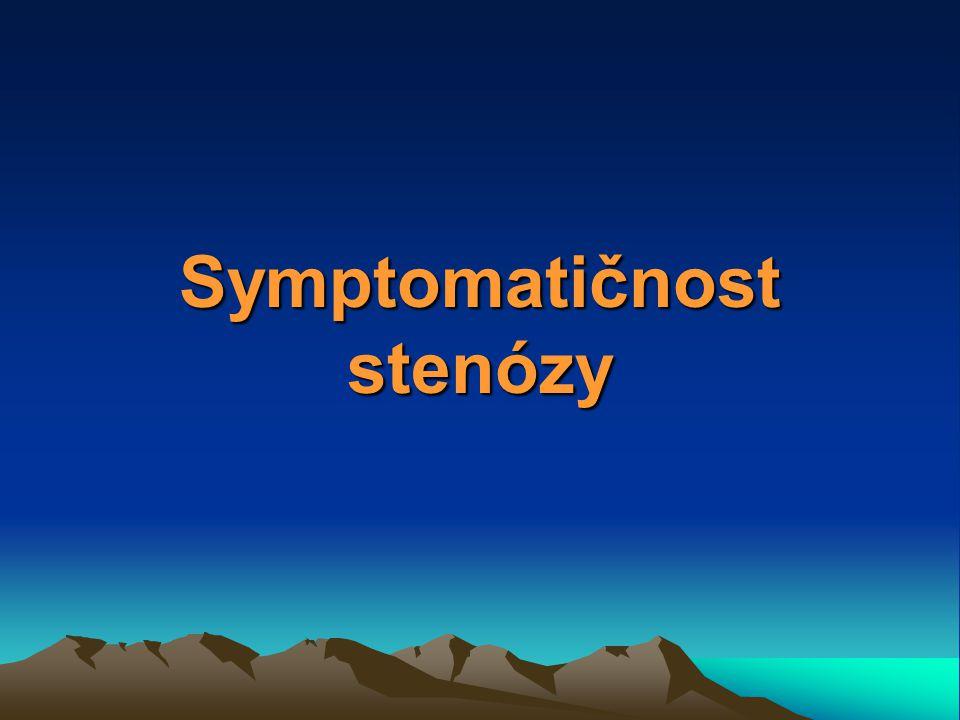 Symptomatičnost stenózy