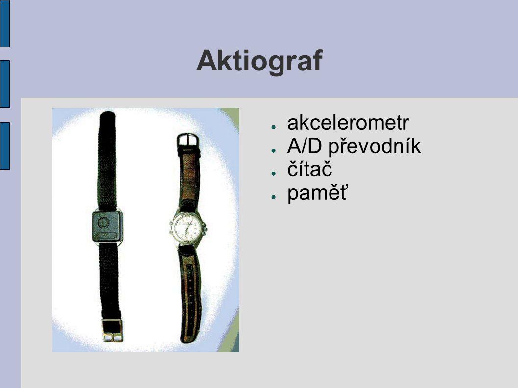 Aktiograf ● akcelerometr ● A/D převodník ● čítač ● paměť