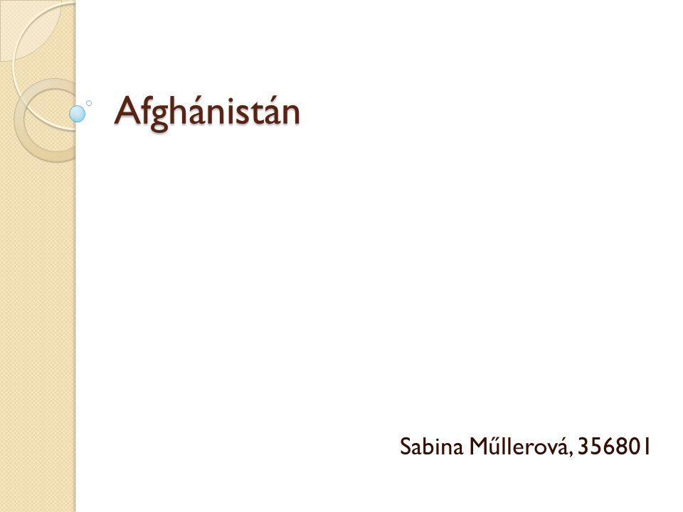 Afghánistán Sabina Műllerová, 356801
