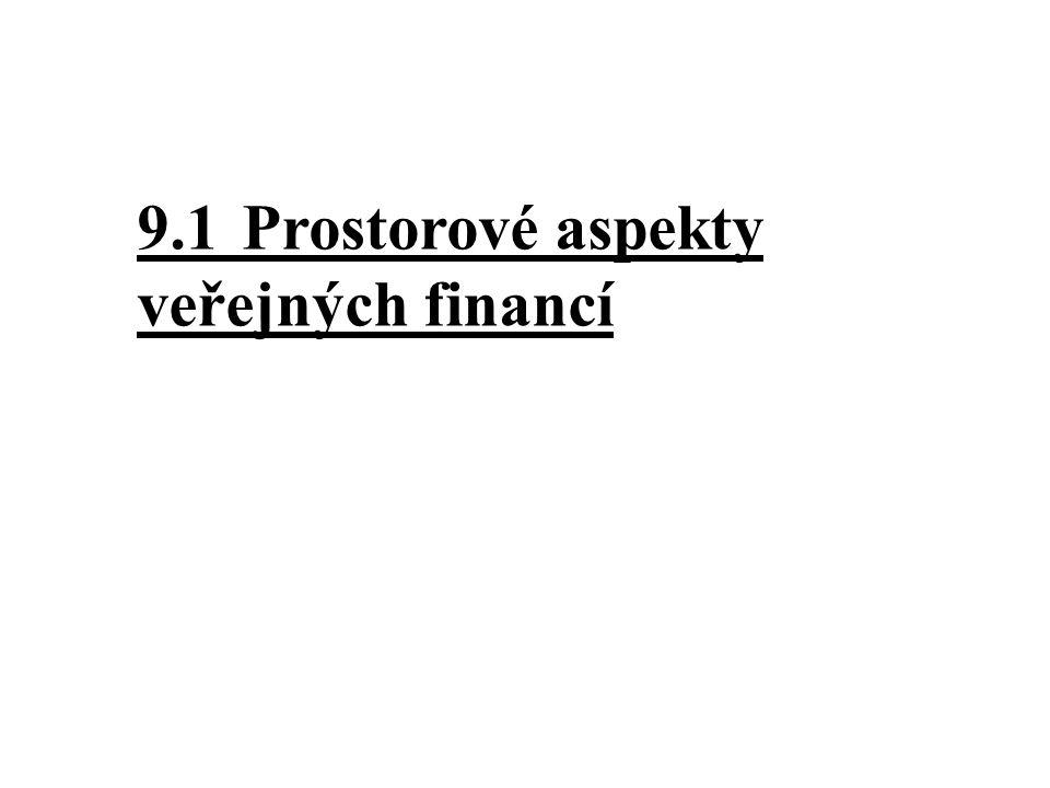 9.1Prostorové aspekty veřejných financí