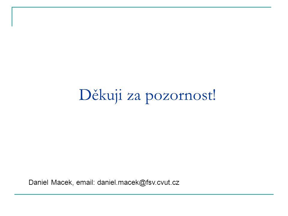 Děkuji za pozornost! Daniel Macek, email: daniel.macek@fsv.cvut.cz