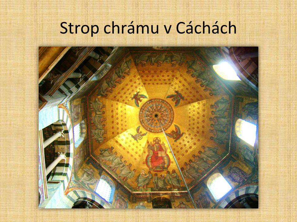 Strop chrámu v Cáchách