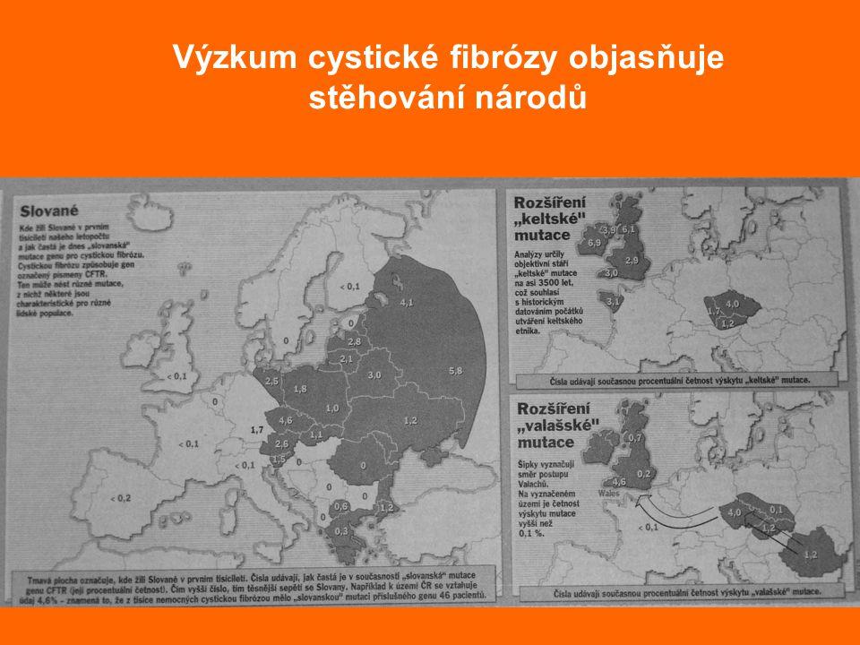 Výzkum cystické fibrózy objasňuje stěhování národů