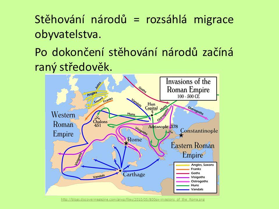 Stěhování národů = rozsáhlá migrace obyvatelstva. Po dokončení stěhování národů začíná raný středověk. http://blogs.discovermagazine.com/gnxp/files/20