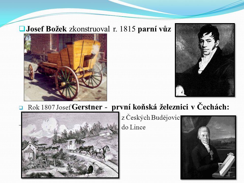 Čeští vynálezci  Prokop Diviš zkonstruoval bleskosvod (1754)  Josef Ressel – lodní šroub (1862)  stanovil správný tvar, nejvhodnější umístění na lodi - vodorovně pod záď lodi před kormidlo  o patent ho připravili jiní vynálezci, kteří o pokusech věděli