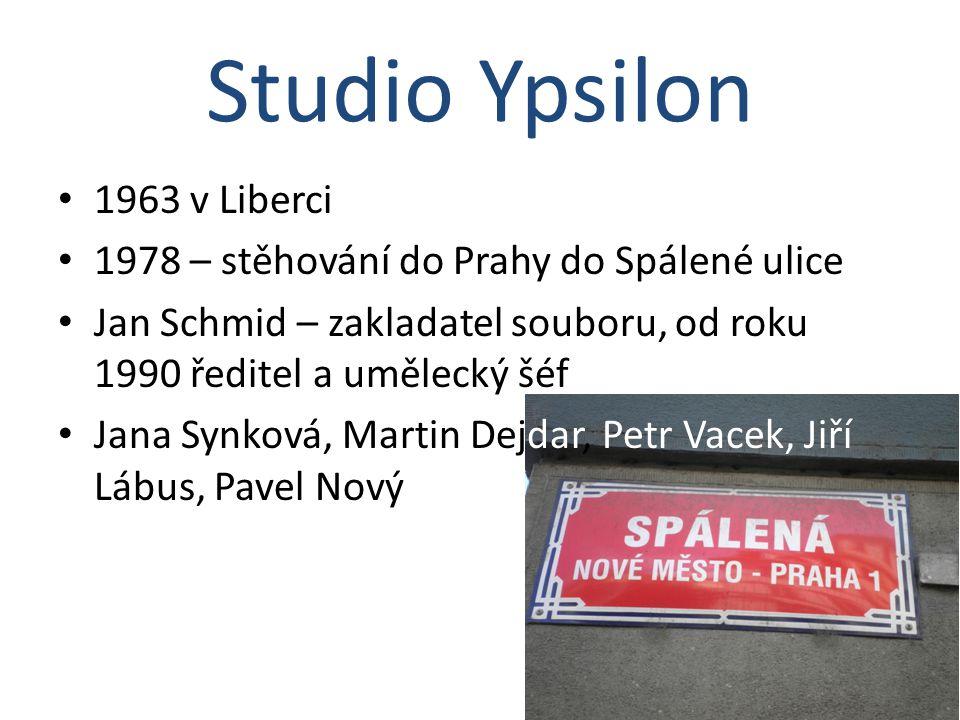 1963 v Liberci 1978 – stěhování do Prahy do Spálené ulice Jan Schmid – zakladatel souboru, od roku 1990 ředitel a umělecký šéf Jana Synková, Martin De