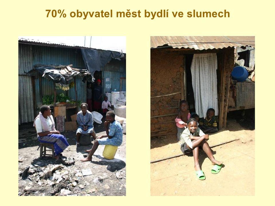70% obyvatel měst bydlí ve slumech