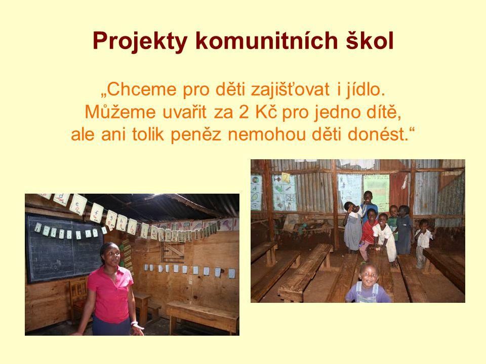"""Projekty komunitních škol """"Chceme pro děti zajišťovat i jídlo. Můžeme uvařit za 2 Kč pro jedno dítě, ale ani tolik peněz nemohou děti donést."""""""