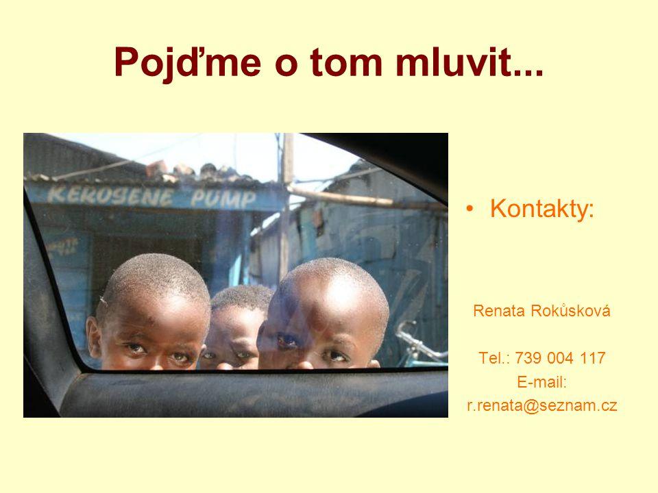 Pojďme o tom mluvit... Kontakty: Renata Rokůsková Tel.: 739 004 117 E-mail: r.renata@seznam.cz