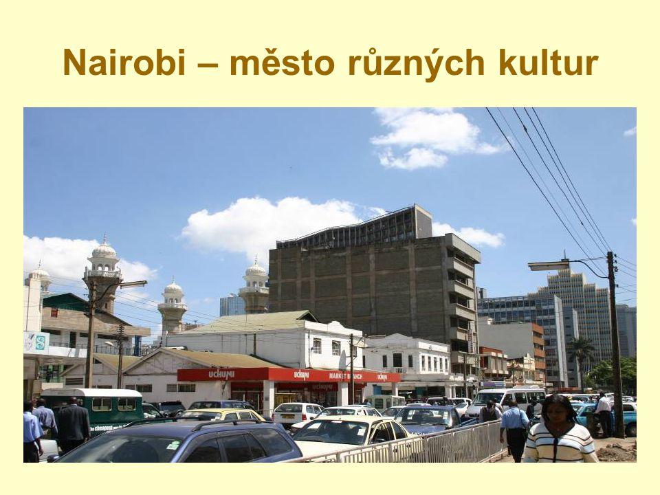 Kibera – největší slum v subsaharské Africe - až 1 milion lidí žije na 5 km 2 - žádná elektřina - omezené zdroje vody, žádná kanalizace - pouze jedna státní škola - obrovská nezaměstnanost