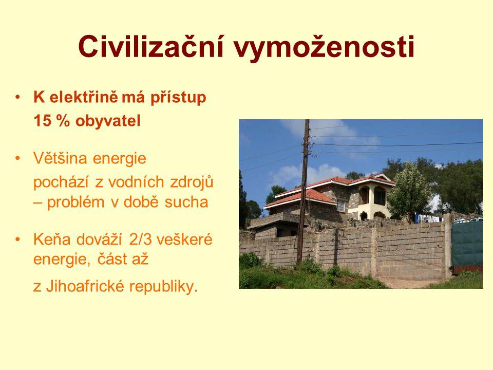 Hlavní problémy ve slamech Extrémní chudoba Hrozné hygienické podmínky Vysoká nezaměstnanost Nízká gramotnost Vysoká kriminalita Značný výskyt HIV+