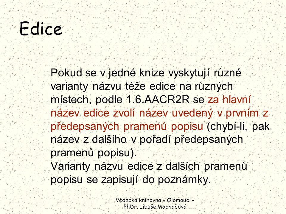 Vědecká knihovna v Olomouci - PhDr.