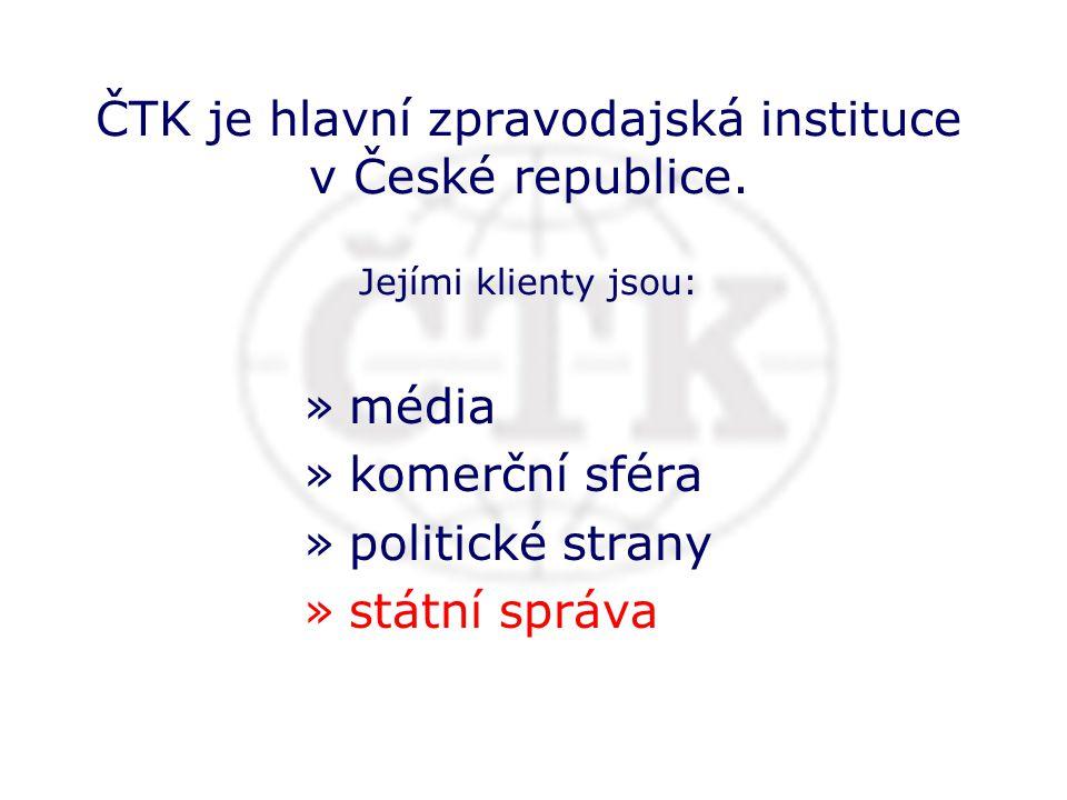 ČTK a státní správa komunikace v zájmu veřejnosti